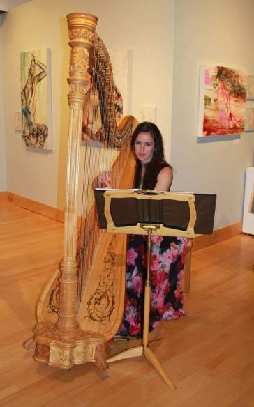 Women Speak Exhibit Reception Harp