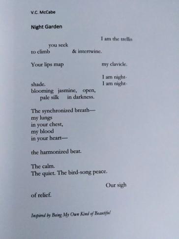 """""""Night Garden"""" by V.C. McCabe"""