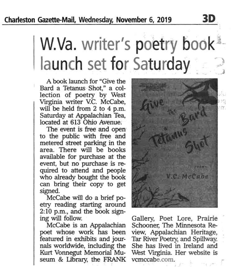 Gazette Article Book Event